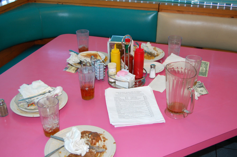 This picture of a restaurant table will make sense in a minute! Read on friend!